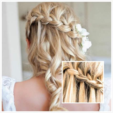 homecoming hairstyles waterfall braid waterfall braid bangs braids and beyond