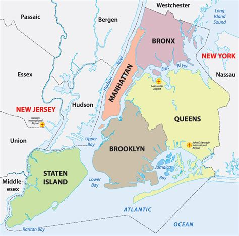map of new york city boroughs guyana born 5th largest immigrant in nyc guyanese