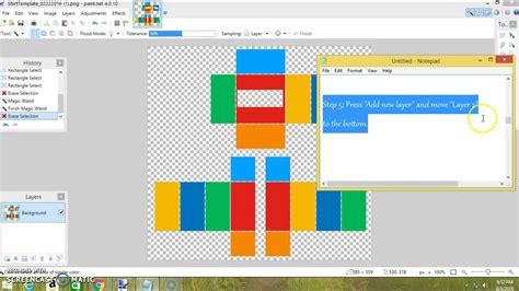 Pant Mekar how to make a custom shirt or template for roblox