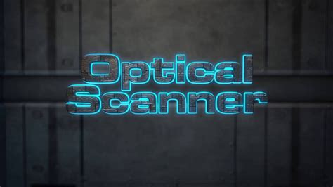 after effects template optical scanner laser scanning
