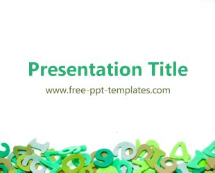 Math Ppt Template Free Powerpoint Templates Math Powerpoint Template