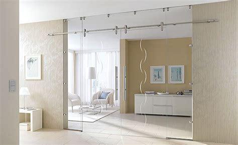 schlafzimmer zwischenwand moderne schiebet 252 ren aus glas