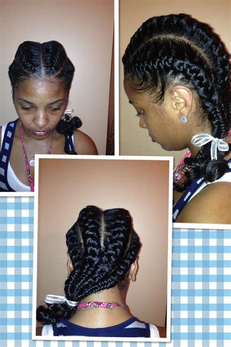 french braiding weave two african french braids with weave www imgkid com