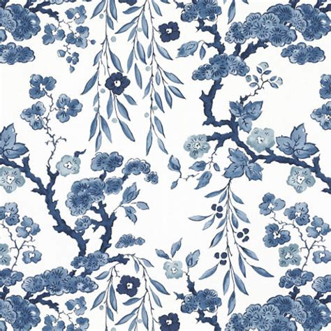 Ralph Lauren Home Decor by Tabley House Floral Porcelain Wallpaper Asian Wallpaper