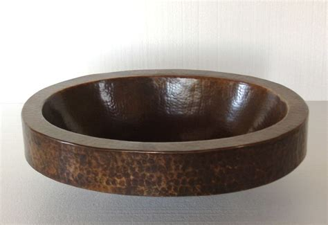 oval copper sink with apron copper bathroom sink oval