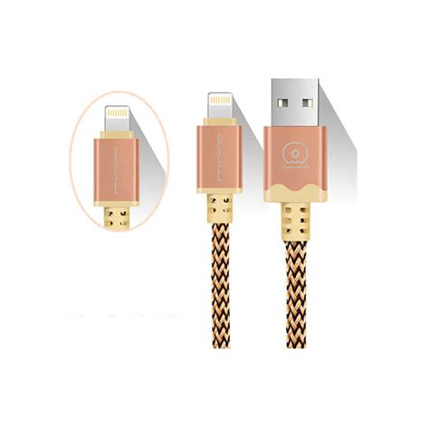 Cable Metal Wuw For Iphone wuw iphone 5 charging cable 3m with leather bags 1 فروشگاه اینترنتی یازده دو صفر