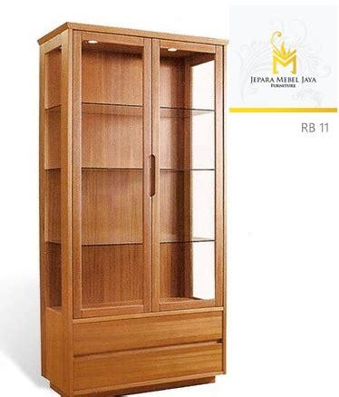 Lemari Pakaian Tempel jual lemari buku minimalis jati 2 pintu jepara mebel