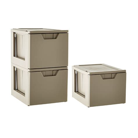 Document Storage Drawers by Taupe Stackable Storage File Drawer The Container Store