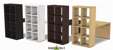 sims 4 cc desk shelf my sims 4 blog ikea furniture tv unit shelves and