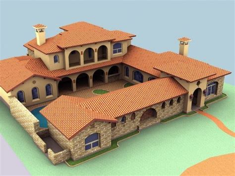 Style House Plans With Central Courtyard by 8 Water Front Avenue Hacienda Style Custom Home