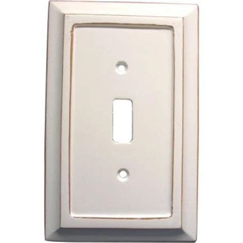 amerelle 1 toggle wall plate 4040tdw the home depot