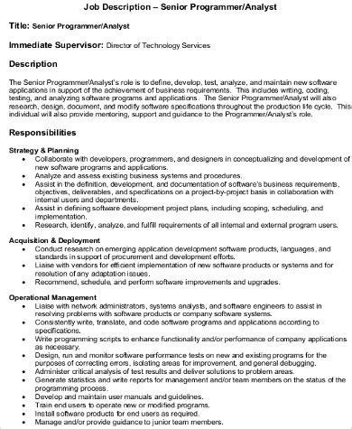 system programmer description 8 programmer analyst description sles sle