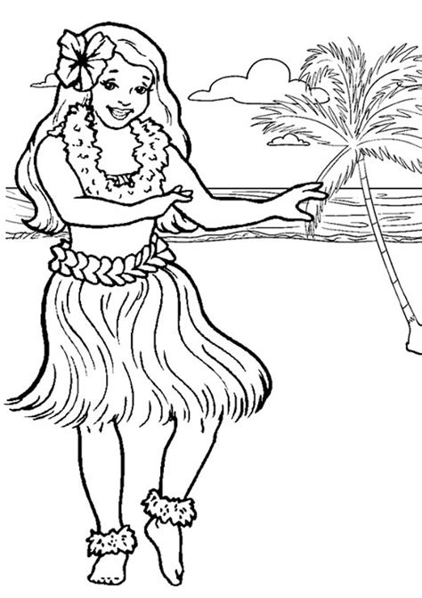 coloring page hawaii hawaiian coloring pages to and print for free