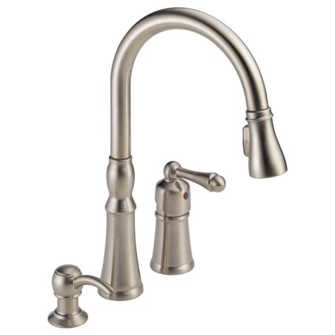 peerless pull out kitchen faucet p88105lf sssd single handle pull kitchen faucet