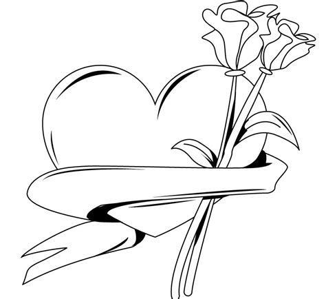 coloring pages flowers and hearts 25 flower coloring pages to color