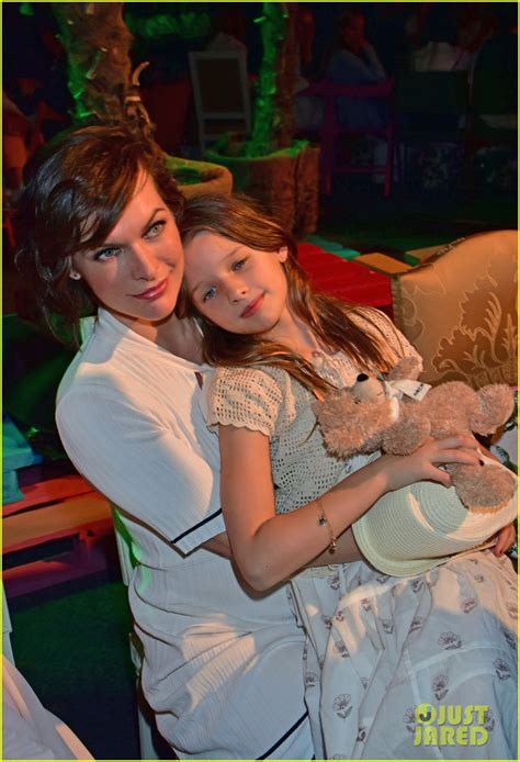 milla jovovich daughter milla jovovich brings daughter ever to marc cain fashion