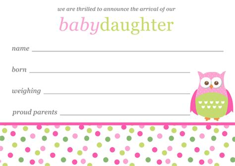 free birth announcement template free birth announcement templates
