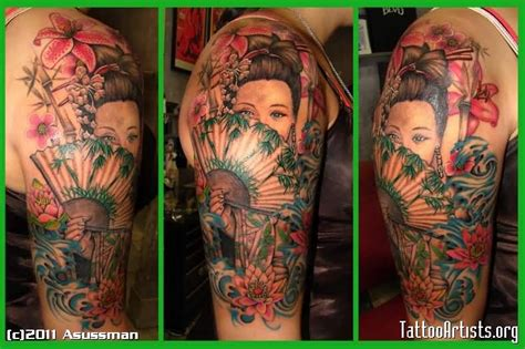 tattoo geisha arm geisha tattoo ideas and geisha tattoo designs page 69