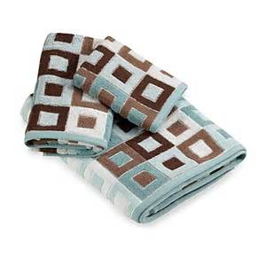 blue and brown bath towels city squares blue towel bed bath beyond
