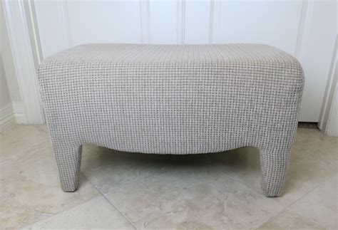 how to reupholster an ottoman how to reupholster an ottoman with faux fur