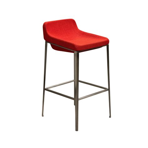 steel bar stools contemporary contemporary bar stool stainless steel base gray