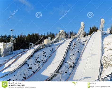 design of ski jump hill ski jumping hill stock image image 27911711