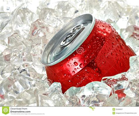 soda photography soda can in ice royalty free stock photography image