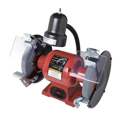 4 bench grinder shop sunex tools 8 in 3 4 hp bench grinder with light at lowes com