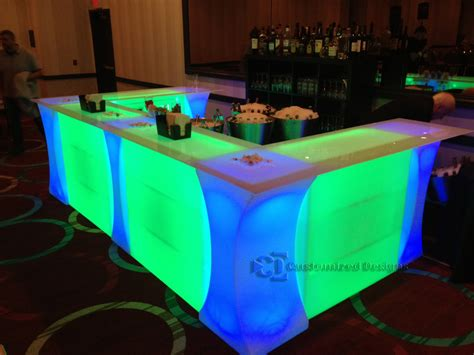 led furniture our lighted dance floor bars curve led highboy tables in