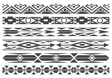 navajo pattern vector free free monochrome native american pattern vector borders