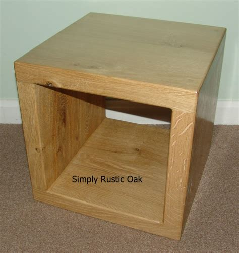 Rustic Handmade Furniture - rustic oak cube side table simply rustic oak handmade