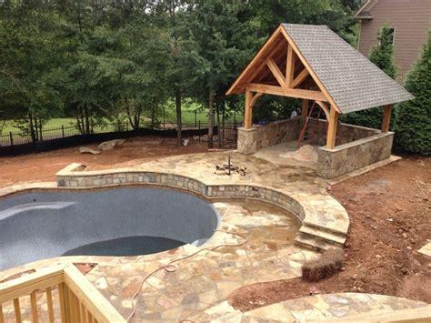Swimming Pool Cabana   Rustic   Patio   Atlanta   by