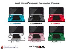 new 3ds colors 3ds colors by officernealy1000 on deviantart