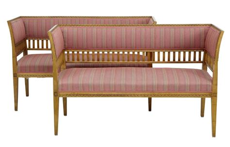 are birch sofas quality pair of small early 20th century birch sofas