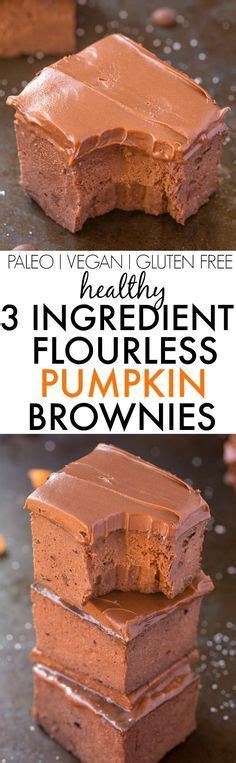 Flourless Brownies Almond And Oat Brownies healthy 3 ingredient flourless pumpkin brownies so easy simple and fudgy no butter no flour