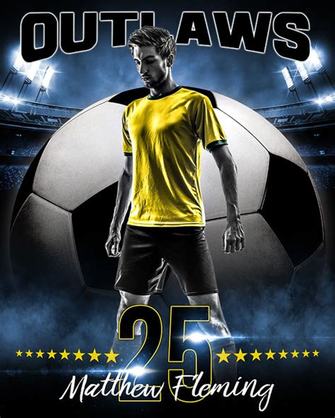 template photoshop soccer sports poster photo template all star soccer photoshop