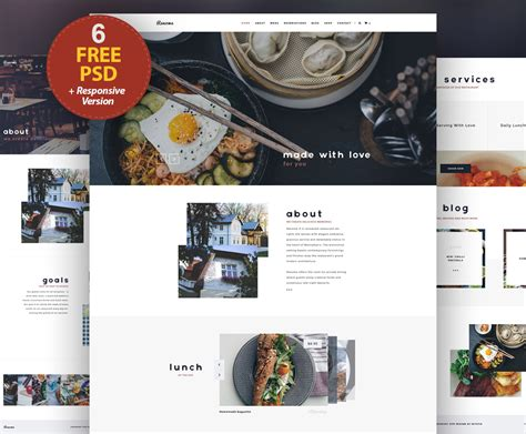 Responsive Restaurant Website Free Psd Templates Download Download Psd Free Restaurant Website Templates Responsive