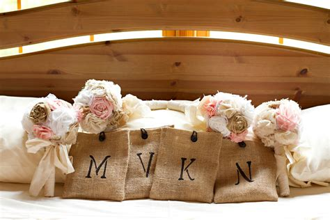 shabby chic romantic rustic wedding bouquet package shabby