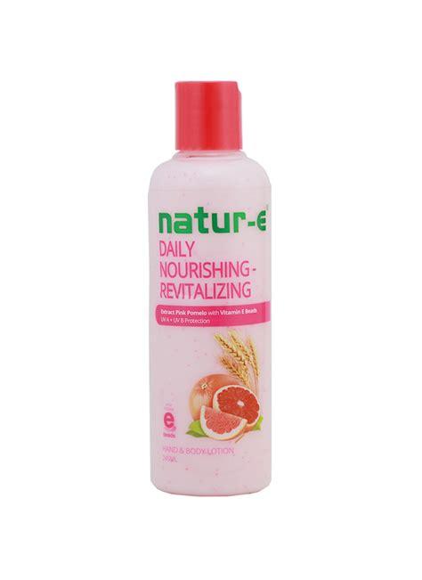 Pelembab Natur E Daily natur e lotion daily nourish revitalizing btl 245ml klikindomaret