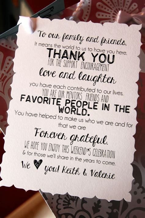 thank you note wedding gift bag best 25 wedding hotel bags ideas on guest