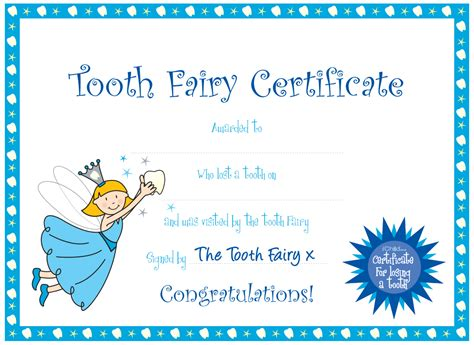 tooth certificate template 7 best images of printable tooth cards free tooth