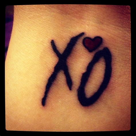 xo tattoo fonts 17 best images about the weeknd on