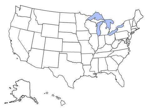 map of united states with great lakes blank map of usa to fill in 50 states map blank