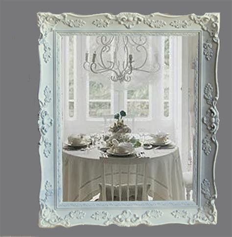 reserved for alma shabby chic mirror cottage chic white