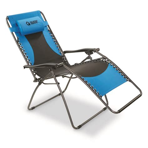 guide gear oversized  lb  gravity chair blue  chairs  sportsmans guide