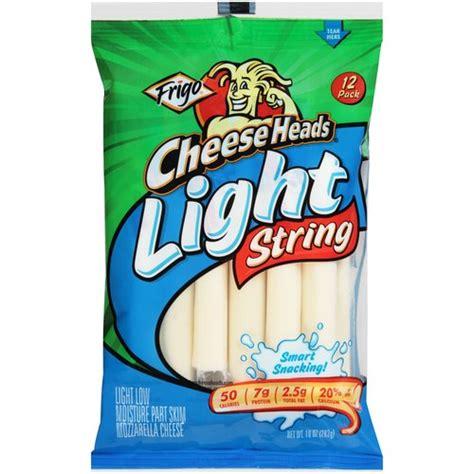 light mozzarella string cheese frigo cheese heads light mozzarella string cheese 12 count 10 oz walmart