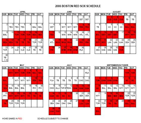 red sox printable schedule red sox printable schedule 2016 calendar template 2016