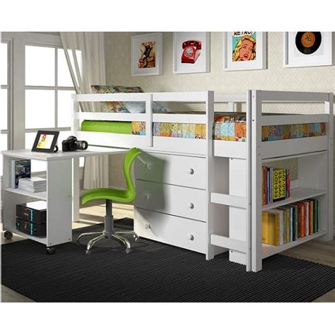 Solid Pine Bunk Bed With Desk by Bunk Beds With Desk Underneath Low Loft Bed Solid