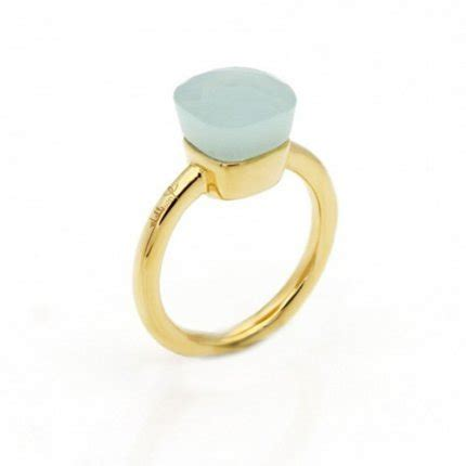 pomellato nudo replica replica pomellato nudo ring in 18k yellow gold with green