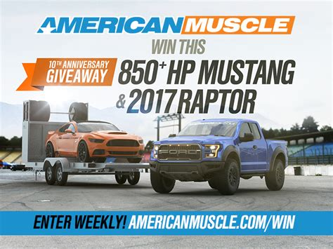American Muscle Sweepstakes 2016 - american muscle celebrates 10 years with amazing giveaway the mustang source
